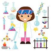 Chemist vector illustration